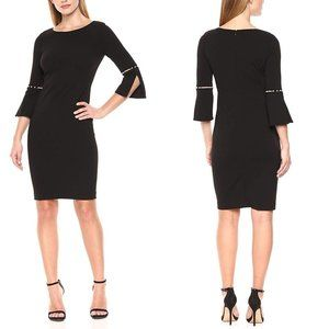 NWT CK Bridged Beaded Sleeve Shift Dress 6 #4414